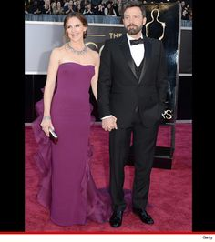 Jennifer Garner and Ben Affleck. She accented her Gucci Premiere silk dress with $2.5 million of Neil Lane diamonds!