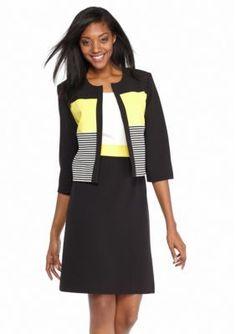 Sandra Darren  Colorblock Jacket Dress
