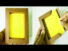DIY Paper photo frame without glue Paper Photo Frame Diy, Diy Photo Frame Cardboard, Paper Picture Frames, Paper Frames, Marco Diy, Cadre Photo Diy, Photo Frames For Kids, Photo Frame Design, Papier Diy