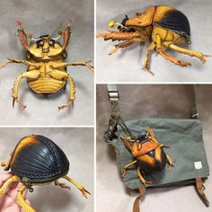 Japanese Artist Amanojaku to Hesomagari Makes Realistic Creature-Inspired Handbags And Other Accessories That Look Too Real Pics) Creepy Animals, Like Animals, Animal Bag, Japanese Artists, Backpack Purse, Bored Panda, Mode Style, Leather Accessories, Leather Working