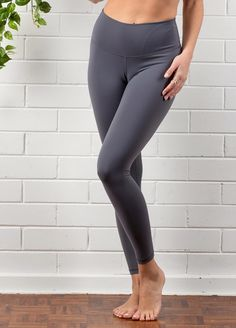 QueenBee® - Ivy Everyday Post Maternity Legging in Pewter Maternity Pads, Maternity Leggings, Maternity Wear, Maternity Fashion, Post Pregnancy Fashion, Nursing Pads, Pewter Grey, New Mums, Short Tops