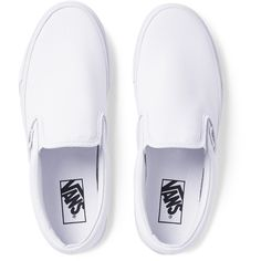 Vans Classic Canvas Slip-On Sneakers ($45) ❤ liked on Polyvore featuring men's fashion, men's shoes, men's sneakers, shoes, mens slipon shoes, mens white slip on sneakers, mens slip on shoes, mens slip on sneakers and mens canvas slip on shoes