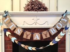 Little Buck baby shower decorations - Oh deer baby shower - it's a boy banner- woodland baby shower - your color choices