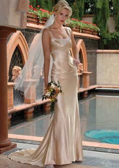 Low Cost Charmeuse Floor Length Square Wedding Dress Low Price, Making Satin Roses For Dresses, Skin Tight Mermaid Train Prom Dress