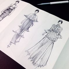 Let's start the Paper Fashionary show! The paper... | Fashionary Hand - A Fashion Illustration Blog