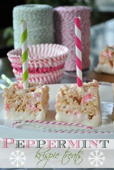 Peppermint Krispie Treats