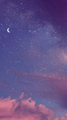 Purple Aesthetic Wallpaper Moon 68 New Ideas Night Sky Wallpaper, Cloud Wallpaper, Wallpaper Space, Purple Wallpaper, Scenery Wallpaper, Aesthetic Pastel Wallpaper, Tumblr Wallpaper, Cute Wallpaper Backgrounds, Wallpaper Iphone Cute