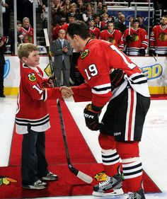Watch 12-year-old Jacks experience dropping the ceremonial puck at #Blackhawks Hockey Fights Cancer night!