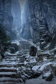 "lori-rocks: ""Emperor's Corridor, Prachov Rocks, Czech Republic by Steve Coleman """