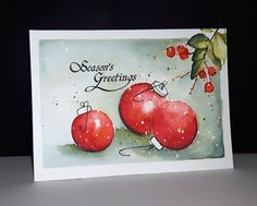 Penny Black Be Merry 2017 stempel Adornments Boxed Christmas Cards, Christmas Card Crafts, Homemade Christmas Cards, Xmas Cards, Christmas Art, Handmade Christmas, Holiday Cards, Christmas Cookies, Christmas Ideas