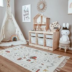 Clever Ideas for Toy Storage Toy Rooms Clever Ideas storage Toy Playroom Design, Playroom Decor, Kids Room Design, Baby Room Decor, Baby Bedroom, Baby Boy Rooms, Nursery Room, Kids Bedroom, Baby Girls