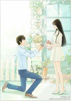 Taming the Spoiled Brat Manga Couple, Anime Love Couple, Couple Cartoon, Anime Couples Drawings, Anime Couples Manga, Cute Anime Couples, Manga Comics, Bts Art, Anime Couples