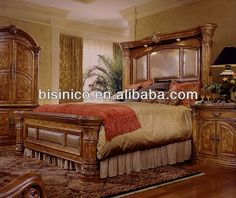 Country Western Bedroom Furniture | bedroom furniture sets,American country style soild wood bedroom ...