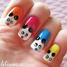 "Cuteness overload!!! colorful pandanails!  Check out my instagram @liliumzz  inspiration from: @fundaflawless ""#pandanailart #pandanails #pandas #nail #nails #nailart #naildesign#nailpolish #nailstagram #manicure #dottingtool #mani #manicure #nails2inspire #notd #nailsoftheday #norskenegler #cutenails #nagellack #nailspiration #neglelakk #dotts #liliumzz"