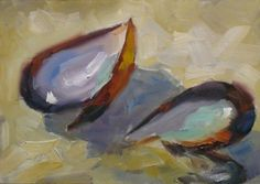 abstract painting shells - Google Search