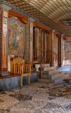 Details of Dionysiou Monastery, Mount Athos, Greece   by Aleksandar Dekanski