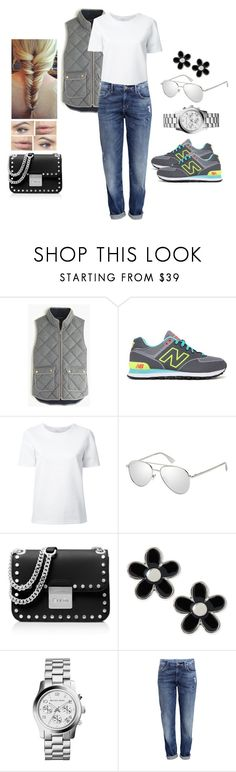 """""""Point of View"""" by teodoramaria98 ❤ liked on Polyvore featuring J.Crew, New Balance, Lemaire, Le Specs Luxe, MICHAEL Michael Kors, Marc by Marc Jacobs, H&M, outfit, vest and NewBalance"""