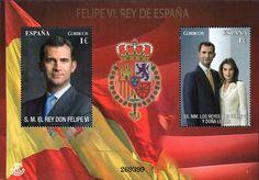 Primera emisión de un sello del rey Don Felipe VI y de la reina Doña Letizia. Comienza una nueva etapa para la filatelia y la numismática en España.
