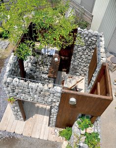 Diy Garden Fence, Garden Entrance, Landscaping With Rocks, Backyard Landscaping, Gabion Wall, Home Stairs Design, Miami Houses, Arch Interior, Small Backyard Gardens