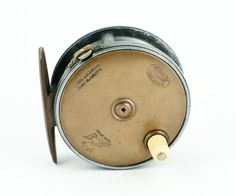 """Hardy Contracted Brass Face Perfect 3 1/8"""" Fly Reel - open ball race!"""