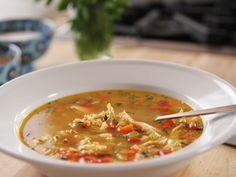 Chicken Rice Soup recipe from Ree Drummond via Food Network