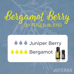 No matter your emotional state today, this blend will help! Bergamot and Juniper Berry essential oils enhance positive feelings and have a calming effect.