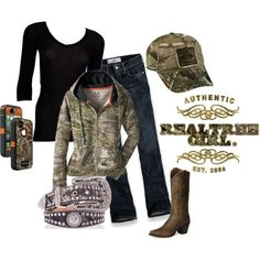 realtree ♥ if I could wear one piece of camo clothing or accessories everyday I would. Cant wait to get out my camo winter coat! Country Girls Outfits, Country Girl Style, Cute N Country, Country Fashion, Country Life, Country Wear, Country Strong, Southern Style, Country Chic
