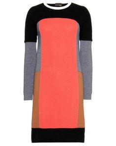 Fendi Color Block Dress