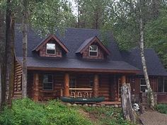 Little Moose River Cabin Bonners Ferry Idaho, Vacation Places, Vacation Ideas, Log Cabin Homes, Rental Property, House Styles, Building, Moose, River