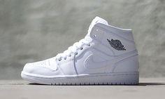 "Air Jordan 1 Mid ""White/Cool Grey-White"""