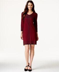 Studio M Geo-Print Knit Dress - Dresses - Women - Macy's
