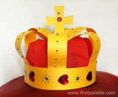 Medieval Crown ShareThis Recreate the majesty of the kings and queens of medieval Europe with this wearable crown craft made out of construction paper strips. Paper Crafts For Kids, Easy Crafts For Kids, Diy Paper, Paper Crafting, Crafts To Make, Kids Diy, Crown Crafts, Diy Crown, Hat Crafts