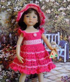 """~* RASPBERRY RIPPLE *~  for 13"""" Dianna Effner Studio's Little Darlings Dolls"""