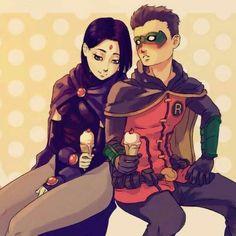 Teen Titans Raven, Teen Titans Fanart, Teen Titans Go, Nightwing, Batgirl, Robin Y Raven, Damian Wayne Batman, Gotham Batman, Batman Art