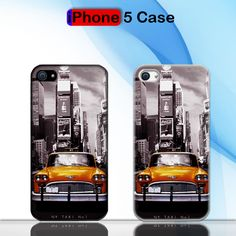 New York Yellow Taxi No Custom iPhone 5 Case Cover