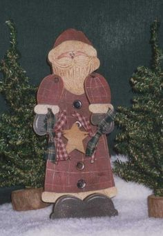 free images of primitive santa to paint | Santa Claus - Santa Crafts