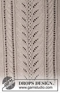 """Darling - Knitted DROPS jumper with lace pattern and cables in """"Cotton Light"""" or """"Belle"""". Size: S - XXXL. - Free pattern by DROPS Design Knitting Stiches, Sweater Knitting Patterns, Lace Knitting, Drops Patterns, Lace Patterns, Stitch Patterns, Drops Design, Hand Knit Scarf, Pattern Library"""