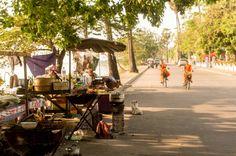 Barbecue stalls, Laos