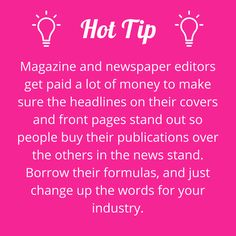 Take a few tips from experts. #writerstips #contentmarketing #wowwords #girlboss #Australia #Brisbane