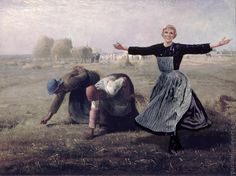 Our Fair Lady: Images of Dame Julie Andrews in Western Art #41 The Gleaners Liked The New Girl Though They Wished She Would Sing Less And Work More (d'après Jean-François Millet)