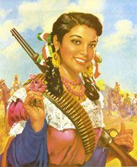 Mexican senorita ready to go to guerro.