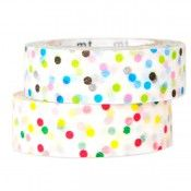 Washi Tape Patterned Multi Colored Dots - 2 Pack