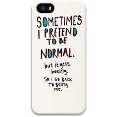 iPhone 5/5S Case DAYIMM Funny Quotes About Pleasure PC Hard Case for... ❤ liked on Polyvore featuring accessories, tech accessories and phone cases
