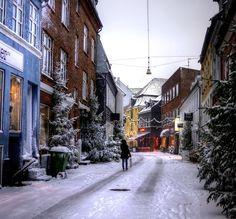 Aarhus, Denmark-- lovely winter scene