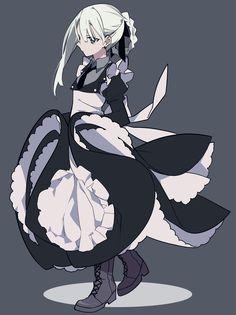 Maid Outfit Anime, Anime Maid, Anime Oc, Kawaii Anime, Anime Art Girl, Manga Art, Character Concept, Character Art, Character Design Inspiration