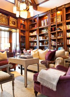 I would love to have a library room like this one day.    Interiors | Gary Riggs Home