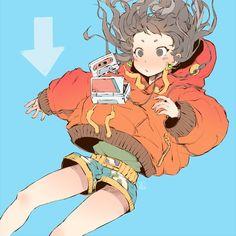 Going down. #illustration #artwork #girl #animegirl