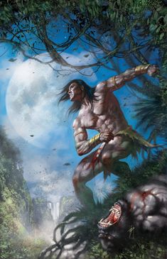 tarzan lord of the jungle Red Sonja, Fantasy Landscape, Fantasy Art, Comic Books Art, Comic Art, Tarzan Book, Tarzan Series, Tarzan Of The Apes, Sword And Sorcery