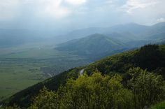 Central Balkan Mountains overlooking the Valley of Roses, Bulgaria. Beautiful.
