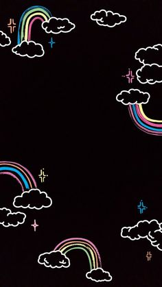 Cute Black Wallpaper, Soft Wallpaper, Cute Patterns Wallpaper, Iphone Background Wallpaper, Aesthetic Pastel Wallpaper, Kawaii Wallpaper, Galaxy Wallpaper, Aesthetic Wallpapers, Cute Cartoon Wallpapers